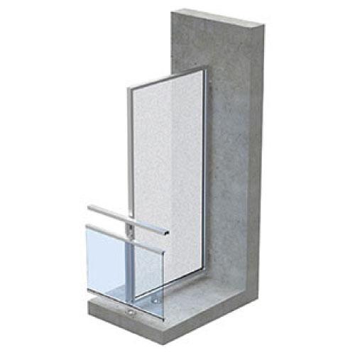 dani alu panorama garde corps aluminium pour balcon accessible. Black Bedroom Furniture Sets. Home Design Ideas